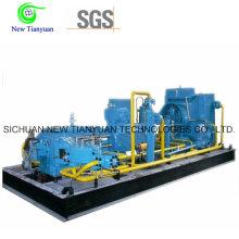 Compresor de gas estacionario CNG para la estación de recarga del GNC