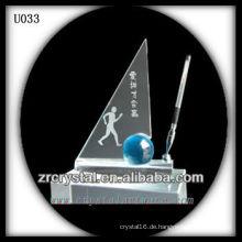 K9 Crystal Office Set mit blauer Kugel