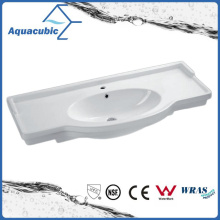 Semi-Recessed Bathroom Ceramic Cabinet Basin Hand Washing Sink (ACB4212)