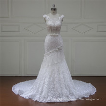 J107 Pretty Strapless Tulle A-Line princesa nupcial vestido de novia 2016
