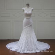 J107 Довольно Без Бретелек Тюль-Line Принцесса Свадебные Платья 2016