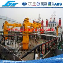 Electrical Hydraulic Telescopic Marine Pedestal Crane 10t 15t