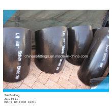 Бесшовные шланговые фитинги Sch40 с коротким радиусом Углеродистое стальное колено
