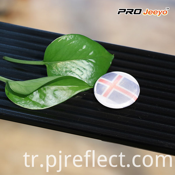 Reflective Retro Lighting Iceland Flag Pin Brooch