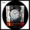 Reloj de cristal en blanco K9 para grabado láser