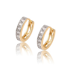 92151 xuping fashion delicate multicolor synthetic zircon paved charms ladies hoop Earrings