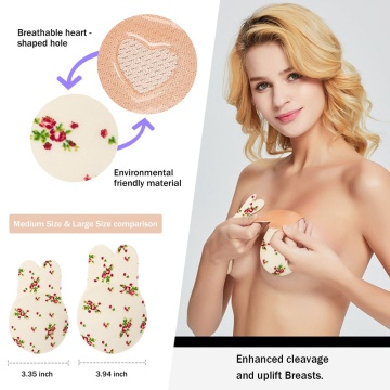BLURBE Silikon Bruststraffung Cover Bra Flower