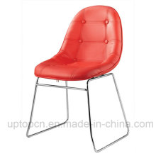 Hot-Selling Cafe Meeting Room Red Leather Egg Shell Chair (SP-LC246)