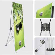 Nouveau design retrousser vertical bannière X stand fabriqué en Chine