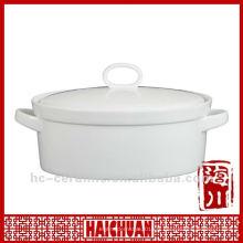 Casserole ovale en céramique, casserole cuite au four