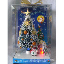 beautiful Christmas White snow optic Fiber box tree