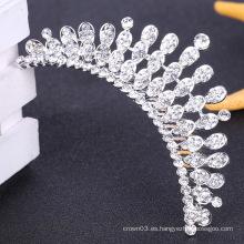 Clara de diamantes de imitación tiara peine peine de boda cristal accesorio