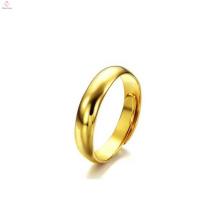 Mão feita tamanho ajustável alto polido personalizado banhado a ouro anéis para as mulheres