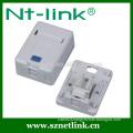 Single port plastic keystone jack Surface Mount Box
