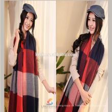 Lingshang A652 200 * 60cm weicher Tartan überprüft Plaid Hijab Strick Schal Pashmina Schal