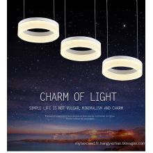 Nouvelle conception fantaisie LED lustre en cristal pendentif lampe