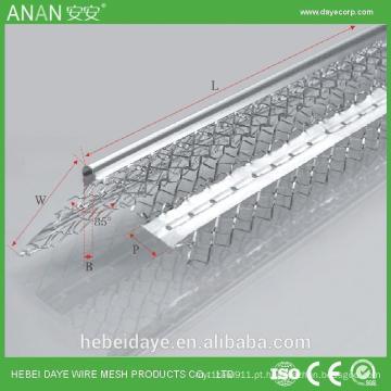 Talha de canto galvanizado expansível de drywall expansível para proteção de parede