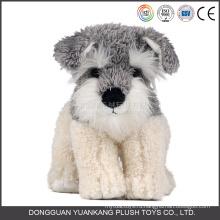 ЫК icti одобрили Фабрика игрушек плюшевые мягкие игрушки чучела Шнауцер собака