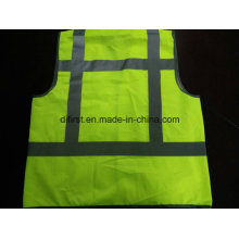 Safety Vest Flu Y Yellow Standard 100%Polyester