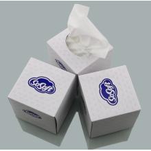Lenços de papel em caixa de cubo para publicidade