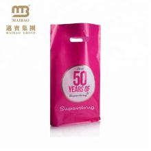 2016 China Bestseller Punch Loch Griff Benutzerdefinierte Kunststoff Geschenk Tasche zum Einkaufen