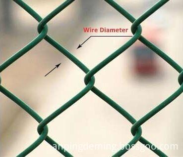 PVC chain link fence details