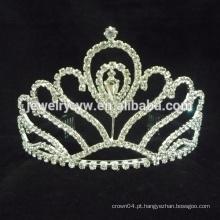 Acessórios de cabelo moda jóias pageant coroas rodada completa alto pageant coroa coroas grande pageant