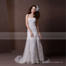 Simple Boat Neck Sheath Lace Wedding Dress Sweep Train Lace Up
