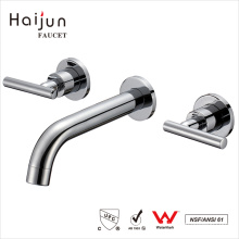 Haijun Quality Products Wall Mount Bathroom Basin Brass Water Faucets