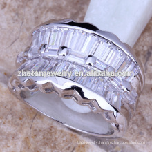 Silver plated men's ring model bijouterie brass jewelry