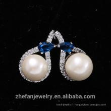 Boucle d'oreille déclaration élégante perle huître Faux perle boucle d'oreille