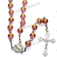 Collar del rosario del grano de cristal de la venta directa de la fábrica 8m m