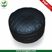 Oreillet de sac en haricot en béton noire et noire, un pot de haricots fantastique unique ottoman