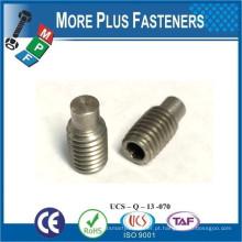 Fabricado em Taiwan DIN 915 Hexagon Socket Set Screw With Dog Point