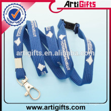 Single thick short custom college lanyards