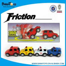 La policía fijó el coche del friction de los juguetes del coche del niño