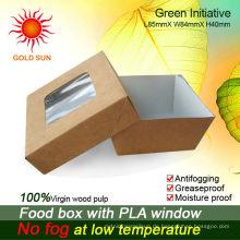 Fast-Food-Box Verpackung mit Anti-Beschlag-Fenster