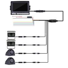 Monitor de Câmera de Backup Quad para Van