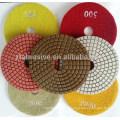 Resina consolidada piso de esmalte de girasol hormigón húmedo almohadilla de diamante seco