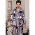 High Quality Printed Flannel Mens Pajamas Suit