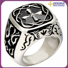 Fashion Design Stainless Steel Cross Ring for Man