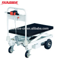 Plate-forme électrique de ciseaux de chariot élévateur de double ciseaux / plate-forme de ciseaux de camion de main