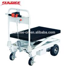 Camión de mesa de mano eléctrico hidráulico portátil con elevador de tijera