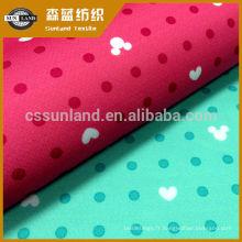 Tissu de sport PK interlock estampé dans une matière tricotée à 100% de polyester