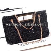 2014 glitter handbag ladies leather shoulder bag clutch evening bags