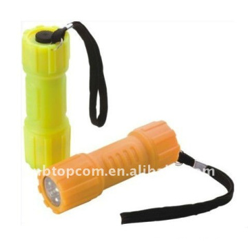 fluorescent 9 LED flashlight Glow In Dark