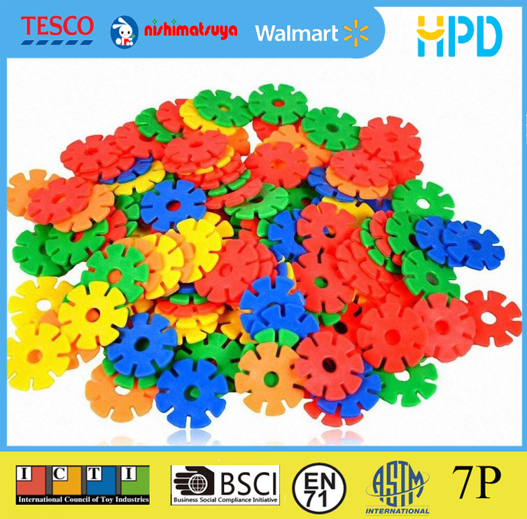 Educational 3D Plastic Snowflake Building Blocks Puzzle