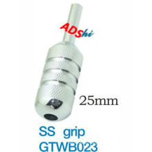 Extensive knurling with three polishing strip design 25mm size 304 stainless steel tattoo grip