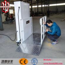 Fauteuil roulant hydraulique pour personne seule de 6 m CE sur élévateur pour personne à mobilité réduite
