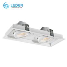 LEDER Белый прямоугольный светильник 30Вт * 2 LED